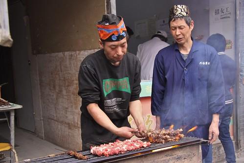 Cooking kebabs