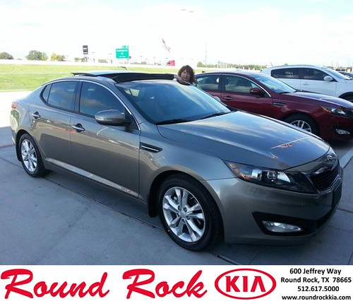 Thank you to Kathleen Seiter on your new 2013 #Kia #Optima from Fidel Martinez and everyone at Round Rock Kia! #BrandNewRide by RoundRockKia