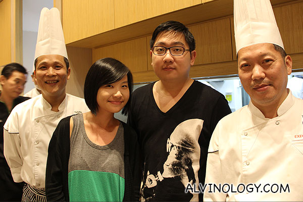 Chef Mak on the left with me and my friend, Han Joo