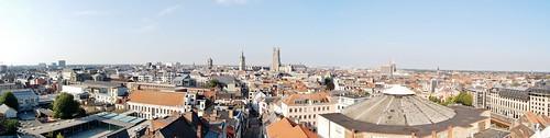 Gent, op het dak van Vooruit