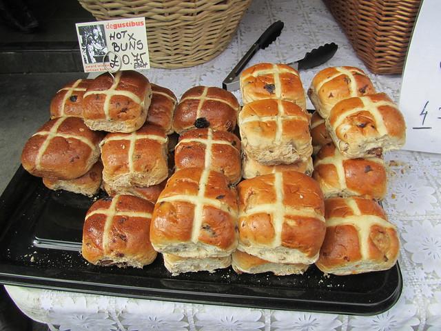Hot Cross Buns at Borough Market
