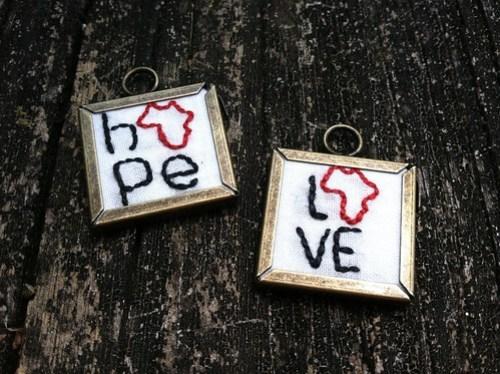 hope & love africa charm set