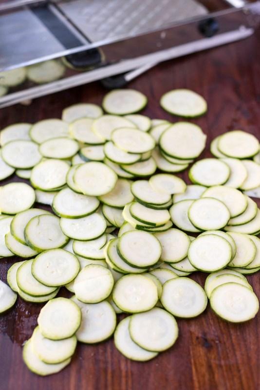 zucchini chips on mandoline
