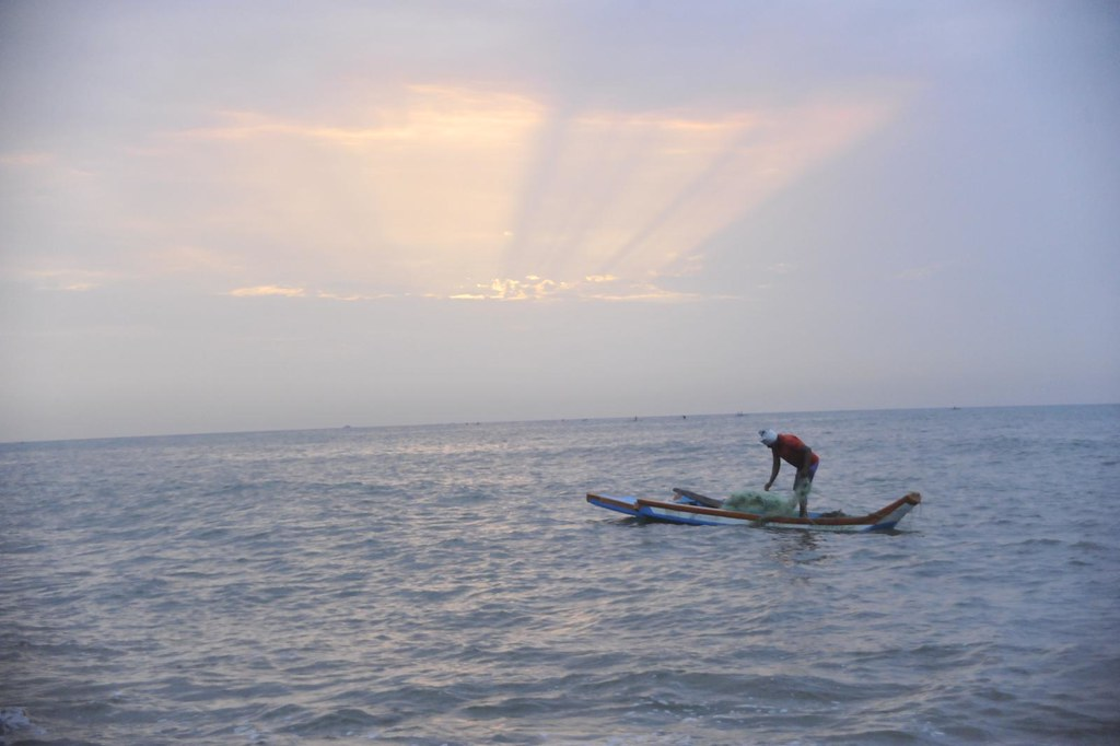 Many a productive pursuit is often accomplished in solitude, offcoast, Pondicherry, India