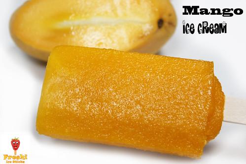 Mango Ice Cream by Freshi Ice Sticks Jeddah Saudi Arabia