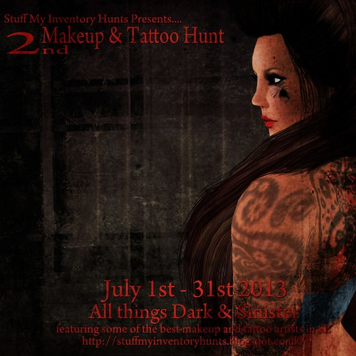2nd Makeup & Tattoo Hunt Poster Texture by Purz Nirvana