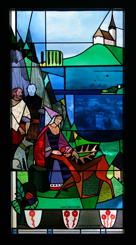 stained glass in Rapperswil castle