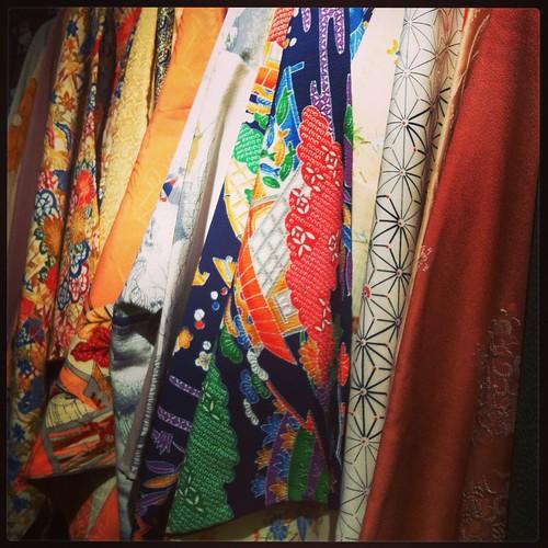 Antique Kimono Shopping
