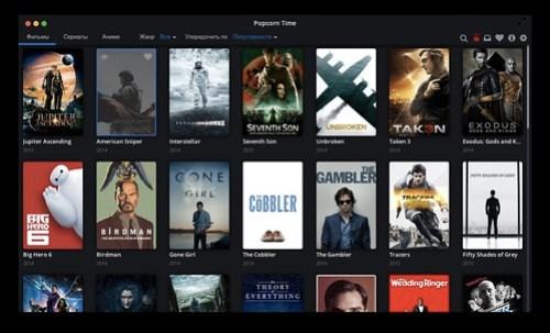 Popcorn Time для Mac OS - смотреть фильмы и сериалы с торрентов без скачивания