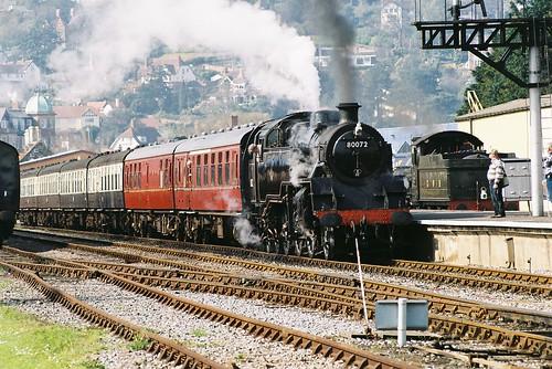 80072 BR Class 4MT, Minehead, 25th March 2012