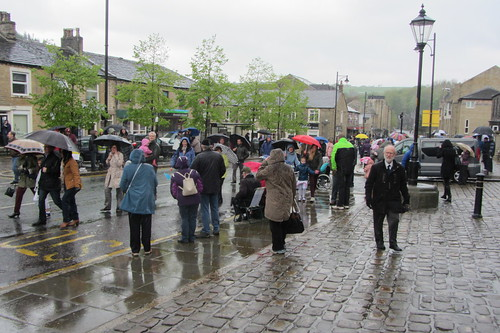 Uppermill Whit Walks, near The Commercial Hotel