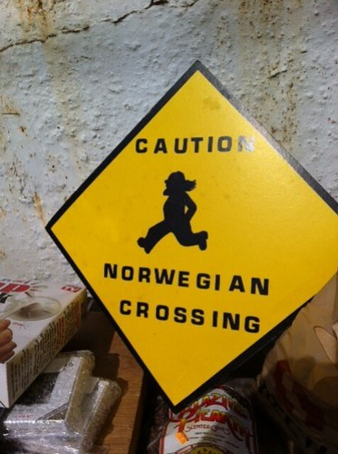 Caution Norwegian Crossing