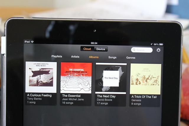 Amazon Cloud Player on an iPad