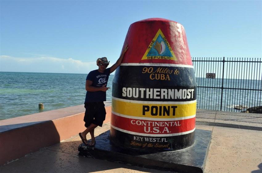 Southermost point, el punto más al sur de Estados Unidos y a 90 millas de Cuba.