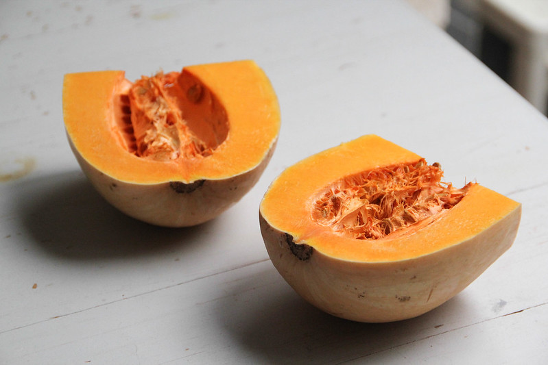 butternut pumpkin halves