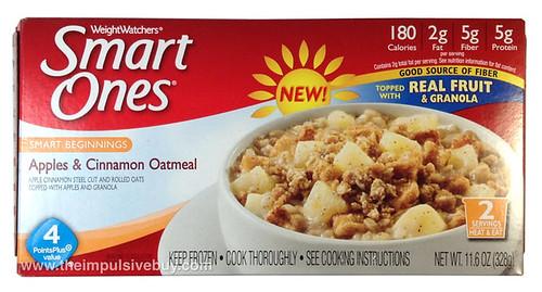 Weight Watchers Smart Ones Smart Beginnings Apples & Cinnamon Oatmeal