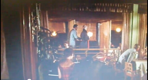 Albatross interior Novak and Douglass standing Strangers When We Meet screen grab 1960