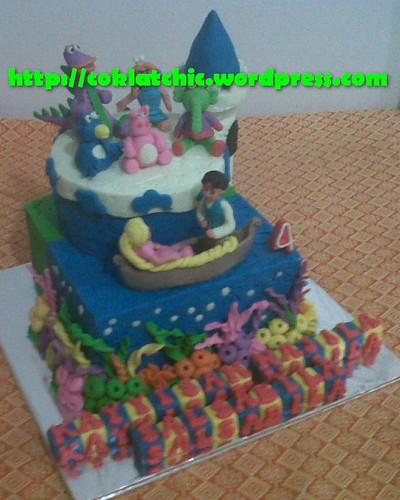 Cake Rapunzel dan dibo