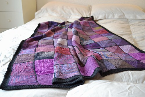 Uptownknitmob blanket for Gina