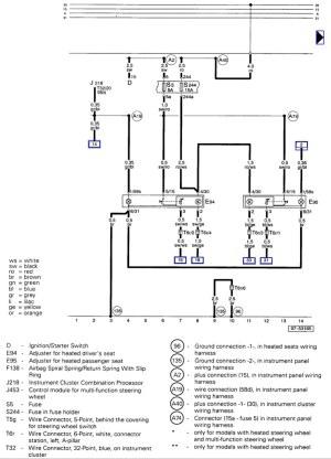 VWVortex  A4 seat wiring diagram