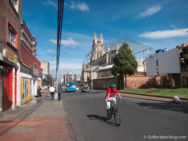Lourdes Church in barrio Chapinero Alto near my hostel