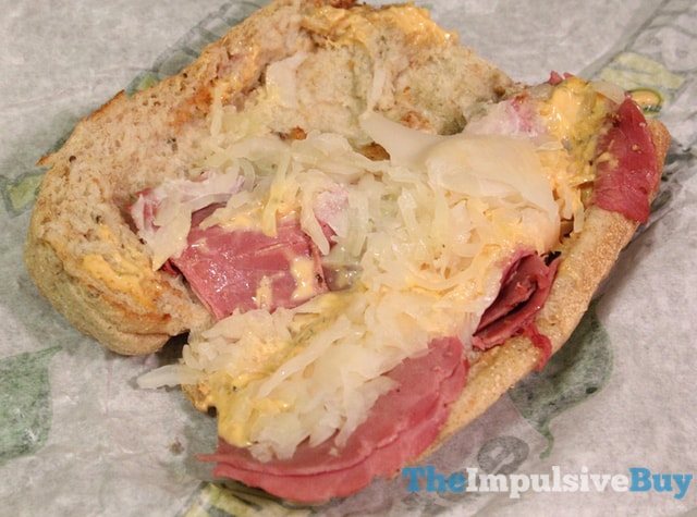 Subway Corned Beef Reuben Sandwich 2