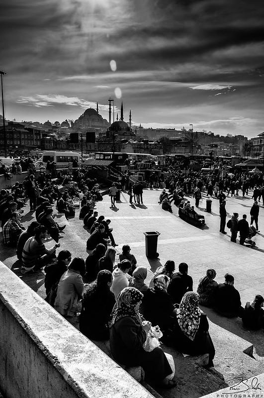 View from Galata bridge to Süleymaniye Mosque