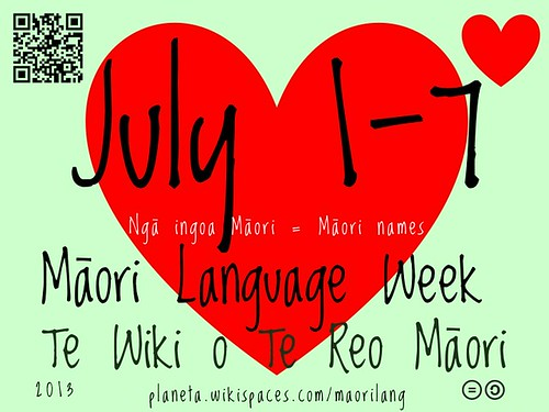 2013 Maori Language Week: July 1-7