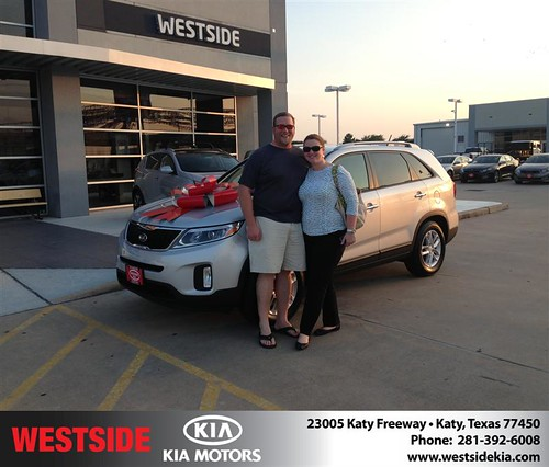 Thank you to Laura Vince  on the 2014 Kia Sorento from Damon  Clayton  and everyone at Westside Kia! by Westside KIA