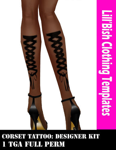 Lill'Bish Corset Tattoo / Designer Kit by Evely Wolff