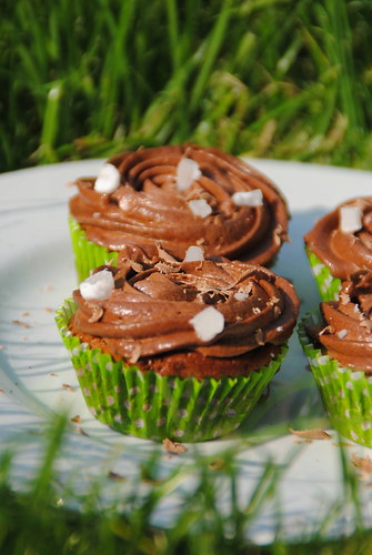Tennis wimbledon chocolate cupcakes