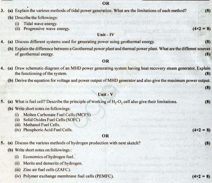 RTU: Question Papers 2014 - 8 Semester - ME - 8E4049