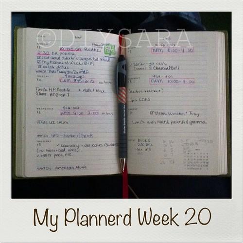 My Plannerd Week Twenty