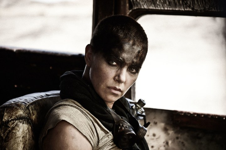 Charlize Theron looking fierce as Imperator Furiosa. Credit: Warner Bros Pictures