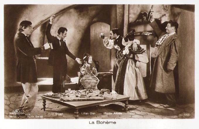リリアン・ギッシュ、ジョン・ギルバート、ルネ・アドレー「ラ・ボエーム」 / Lillian Gish, John Gilbert and Renée Adorée in La Bohème (1926)