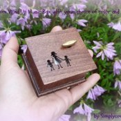 wooden music box.