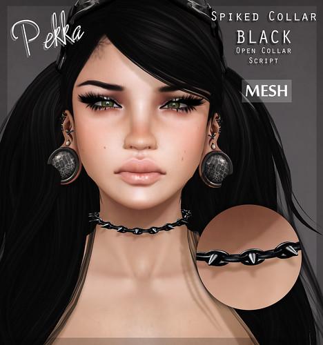 pekka spiked collar black