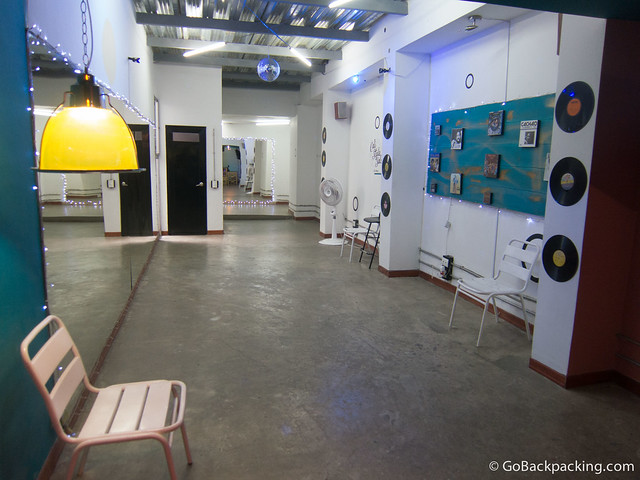One of the two rooms where lessons are held