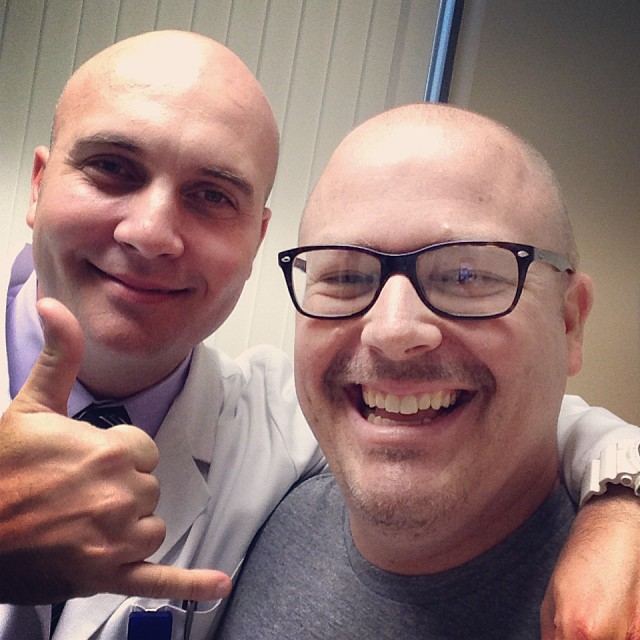 Goran, my clinic NP. He's taken pretty good care of me so far.