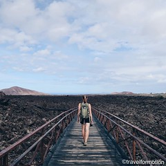 #whpescape #walking over #old #lava in #lanzarote #wanderlust #travel #travelgram #vsco #vscocam #landscape #walkway #guardiantravelsnaps #vulcano #españa #traveling #travelphotography