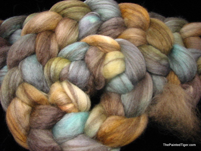Alpine - Mixed BFL Hand Dyed Wool for Spinning