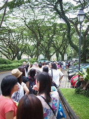 Queue. The Singapore Repertory Theatre's Twelfth Night (Shakespeare in the Park), Fort Canning