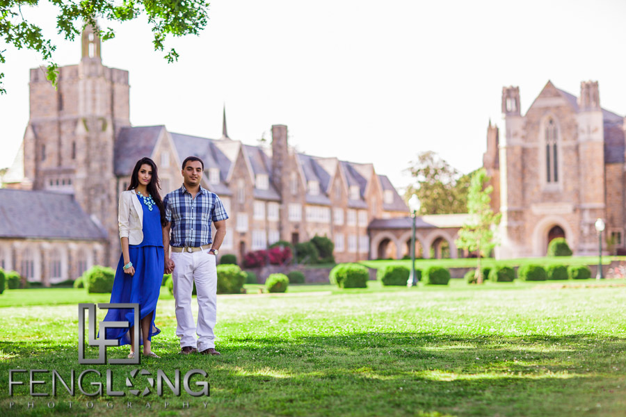 Engagement session at Berry College in Rome, Georgia