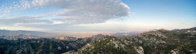 1307 Looking towards Tucson from Lizard Rock