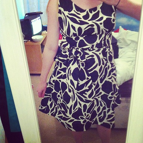 My best dressmaking project yet. So proud of myself! (yes it has an attached bow in front!)