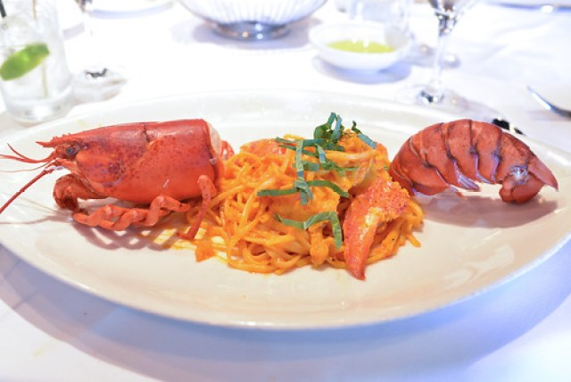 Nova Scotia Deep Sea Lobster Pasta light tomato sauce