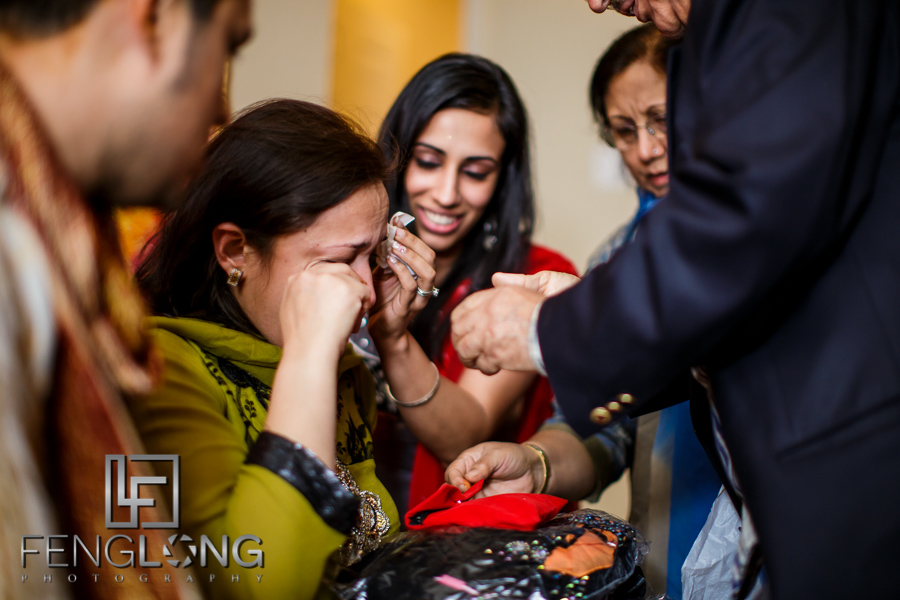 Groom's mother crying at end of Mehndi night