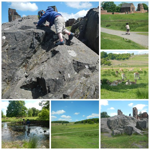Scrambling at Bradgate Park