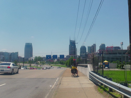 riding to downtown nashville
