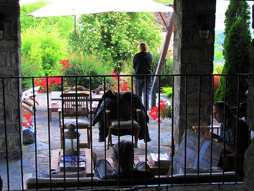 Pyrenees Mountains Hotel Casa de San Martin Patio